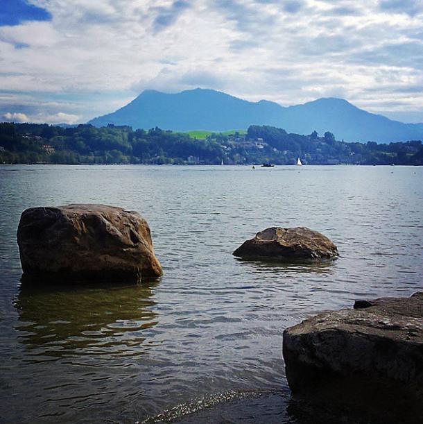Der Vierwaldstädter See bei Luzern